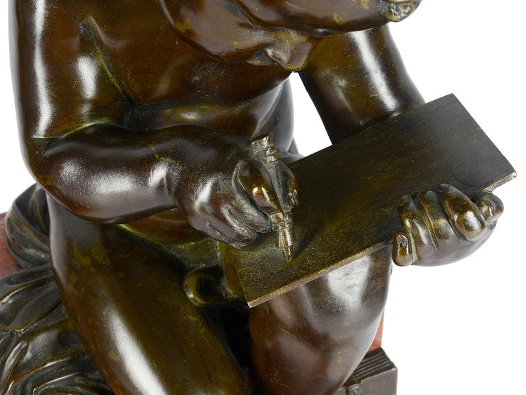 Pair of 19th Century Bronze Putti For Sale 6