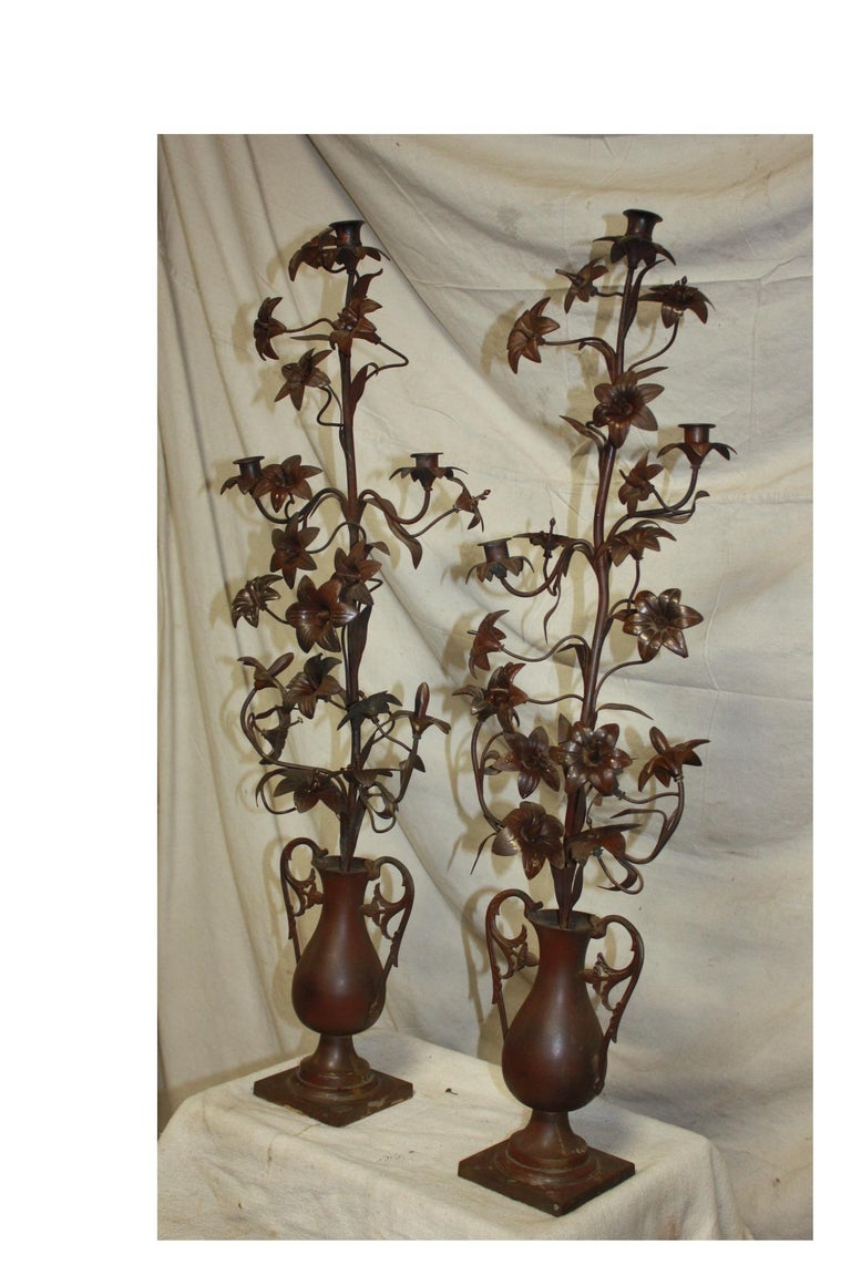 Pair of 19th Century candelabras.