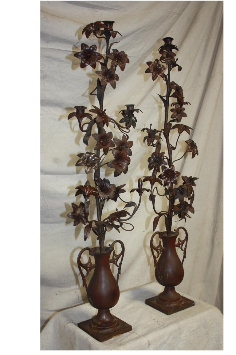 French Pair of 19th Century Candelabras For Sale