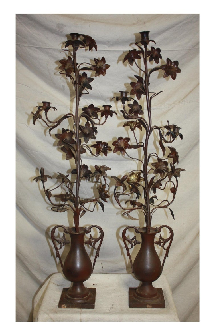 Pair of 19th Century Candelabras In Good Condition For Sale In Atlanta, GA