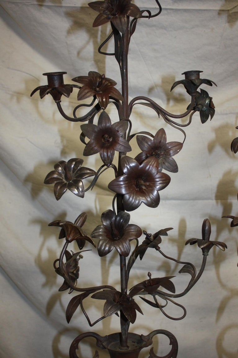 Pair of 19th Century Candelabras For Sale 1