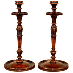 Pair of 19th Century Carved Candlesticks
