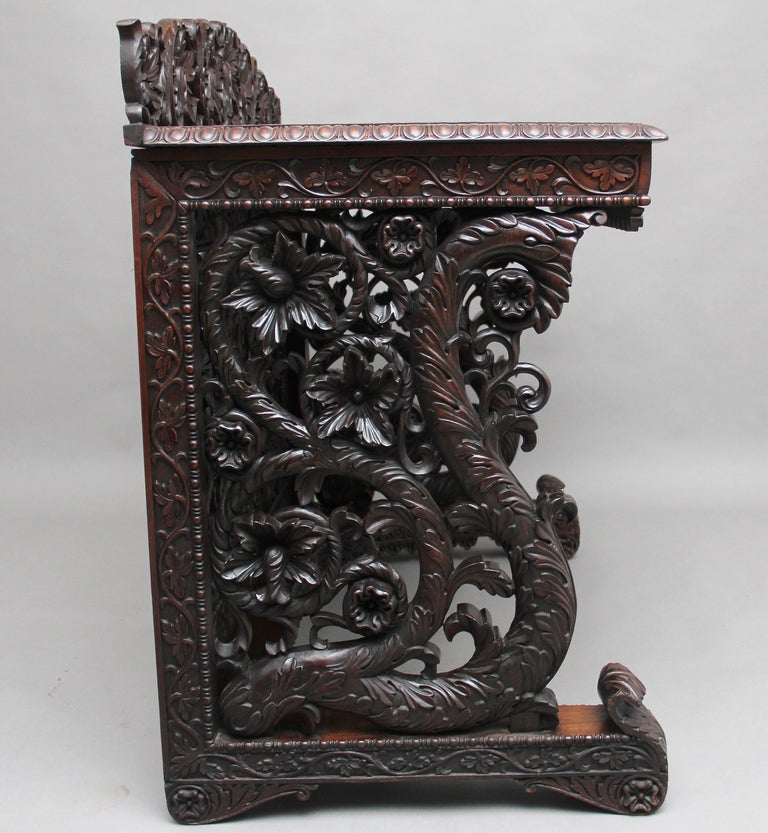 Pair of 19th Century Carved Console Tables For Sale 4