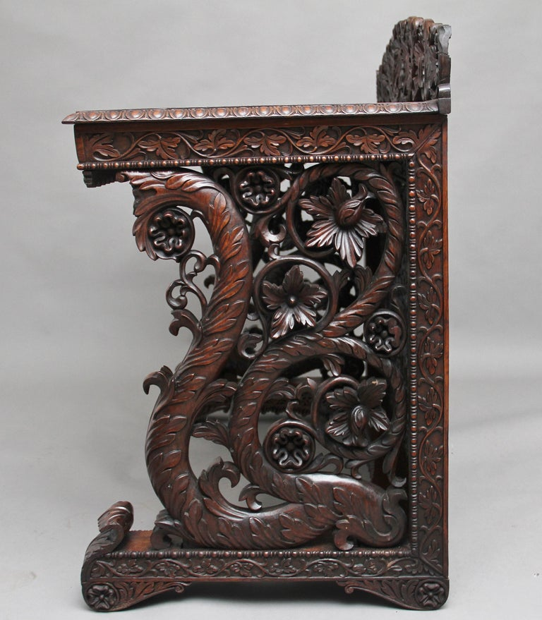 Pair of 19th Century Carved Console Tables For Sale 6