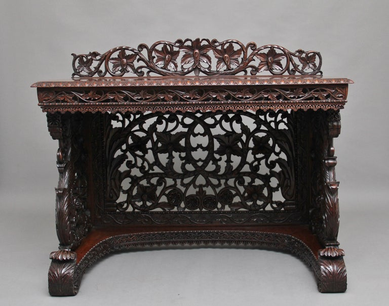 Pair of 19th Century Carved Console Tables For Sale 7