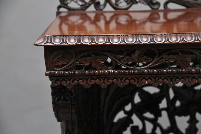 Pair of 19th Century Carved Console Tables For Sale 8