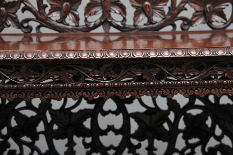 Pair of 19th Century Carved Console Tables For Sale 9