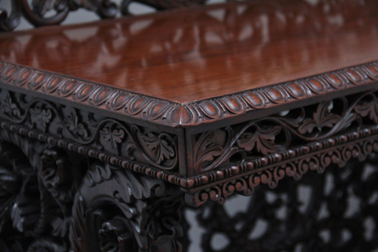 Pair of 19th Century Carved Console Tables For Sale 10