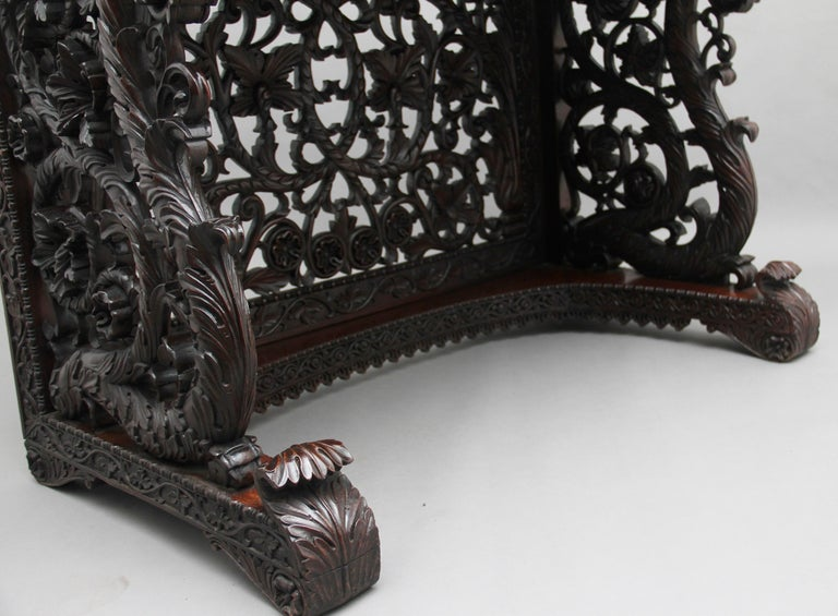 Pair of 19th Century Carved Console Tables For Sale 12