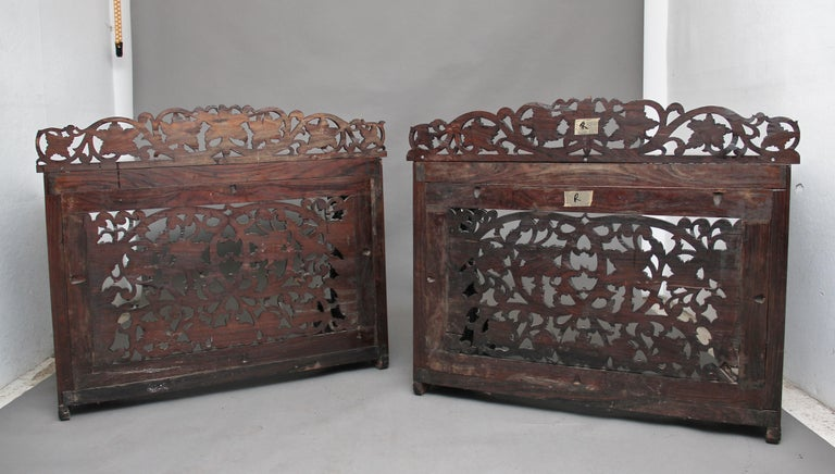 Pair of 19th Century Carved Console Tables In Good Condition For Sale In Martlesham, GB
