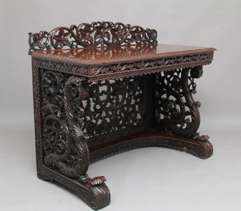 Pair of 19th Century Carved Console Tables For Sale 3