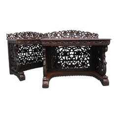 Pair of 19th Century Carved Console Tables