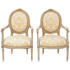Pair of 19th Century Carved Fauteuils