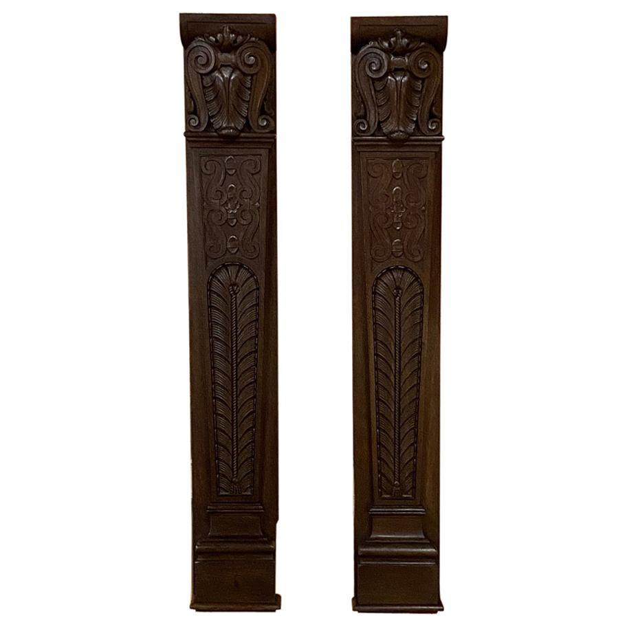 Pair of 19th Century Carved Pilasters