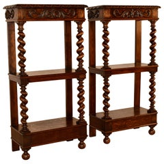 Pair of 19th Century Carved Shelves