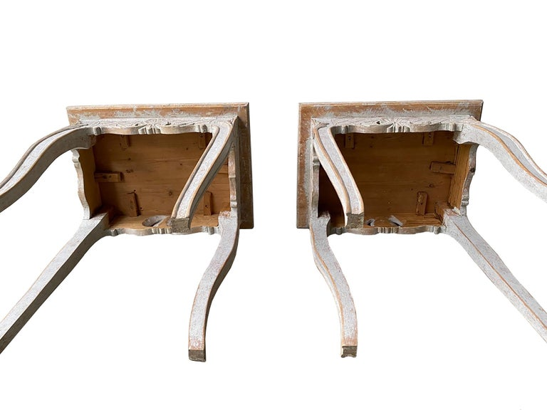 Pair of 19th Century Carved Tables For Sale 1
