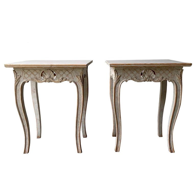 Pair of 19th Century Carved Tables For Sale