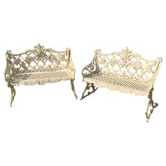 Pair of 19th Century Cast Iron Garden Benches