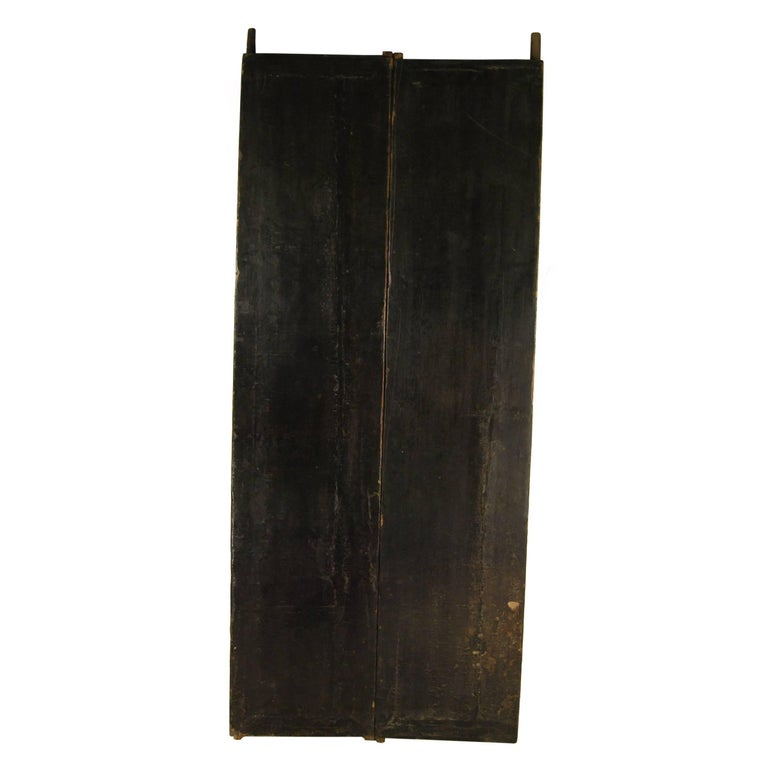 Pair of 19th Century Chinese Black Lacquer Doors
