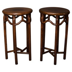 Pair of 19th Century Chinese Elmwood Stands