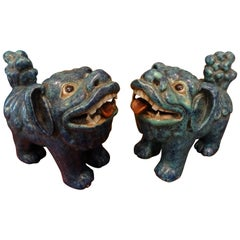 Pair of 19th Century Chinese Foo Dogs or Foo Lions