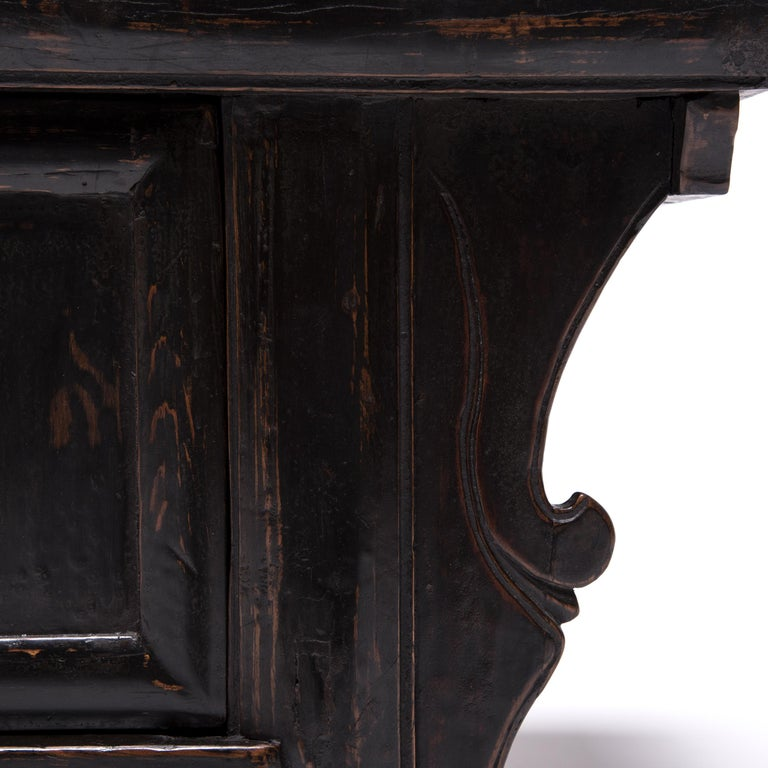 Pair of 19th Century Chinese Low Two-Door Chests 10