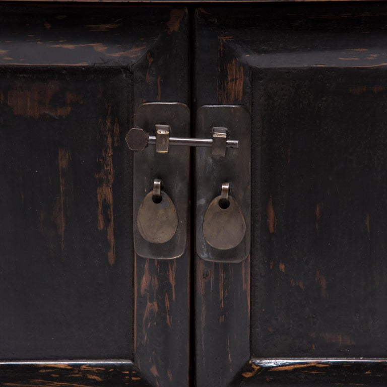 Pair of 19th Century Chinese Low Two-Door Chests 11