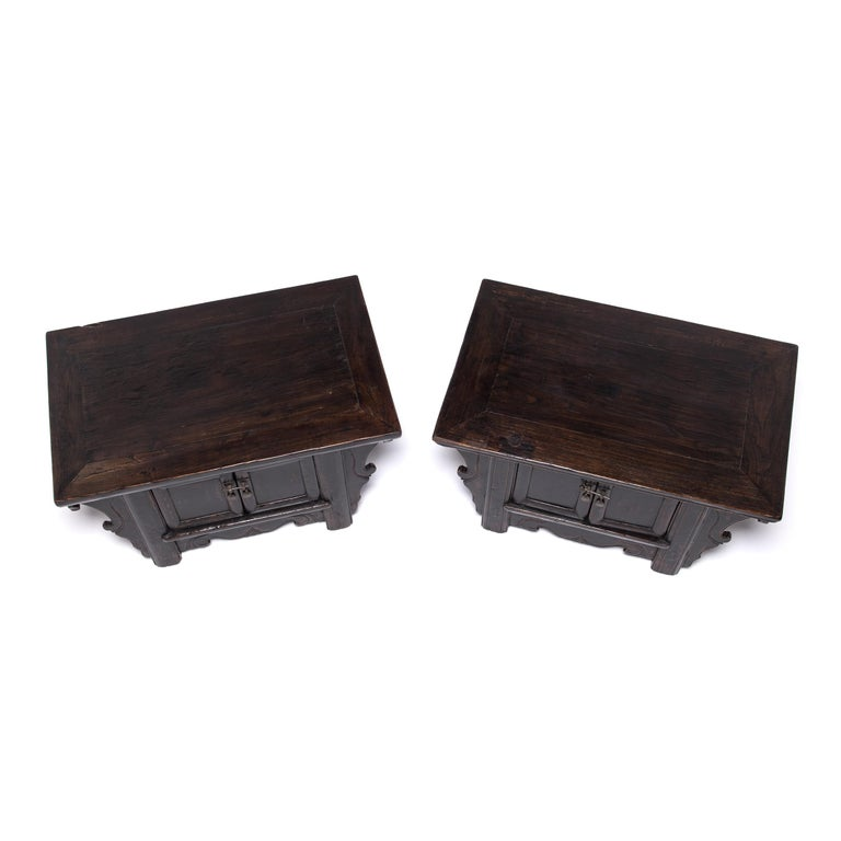 Pair of 19th Century Chinese Low Two-Door Chests 2