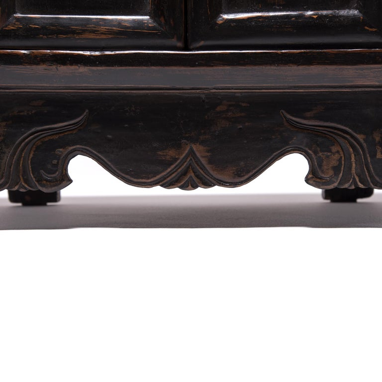 Pair of 19th Century Chinese Low Two-Door Chests 9