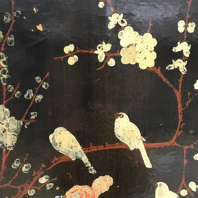 Pair of 19th Century Chinese Painted Cabinets For Sale 4