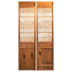 Pair of 19th Century Chinese Pinewood Doors