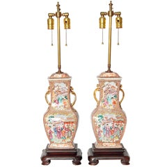 Pair of 19th Century Chinese Porcelain Vases as Lamps