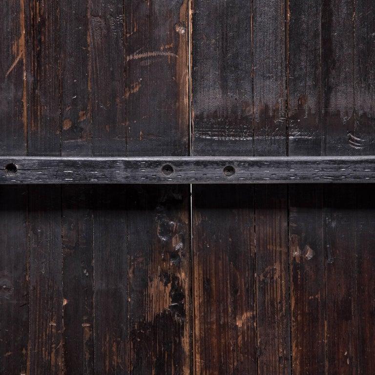 Cedar Pair of 19th Century Chinese Quatrefoil Doors For Sale