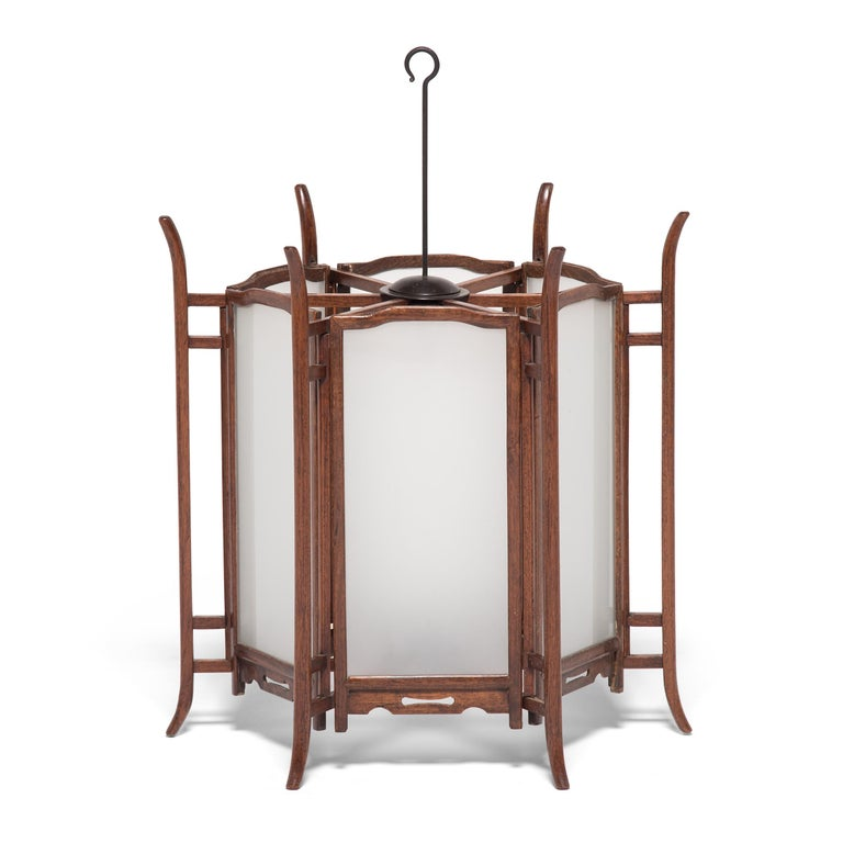 Pair of 19th Century Chinese Rosewood Lanterns For Sale 4
