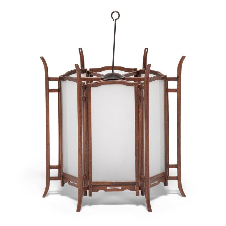 Pair of 19th Century Chinese Rosewood Lanterns For Sale 5