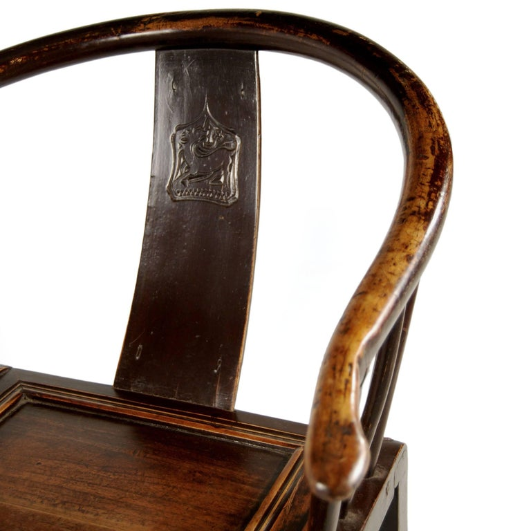 For these elegant 19th century elmwood chairs, the devil - or deer, as it were, is in the details. Masterful mortise and tenon joinery defines the chairs' seamless end-to-end construction, and their round backs were achieved through a centuries old