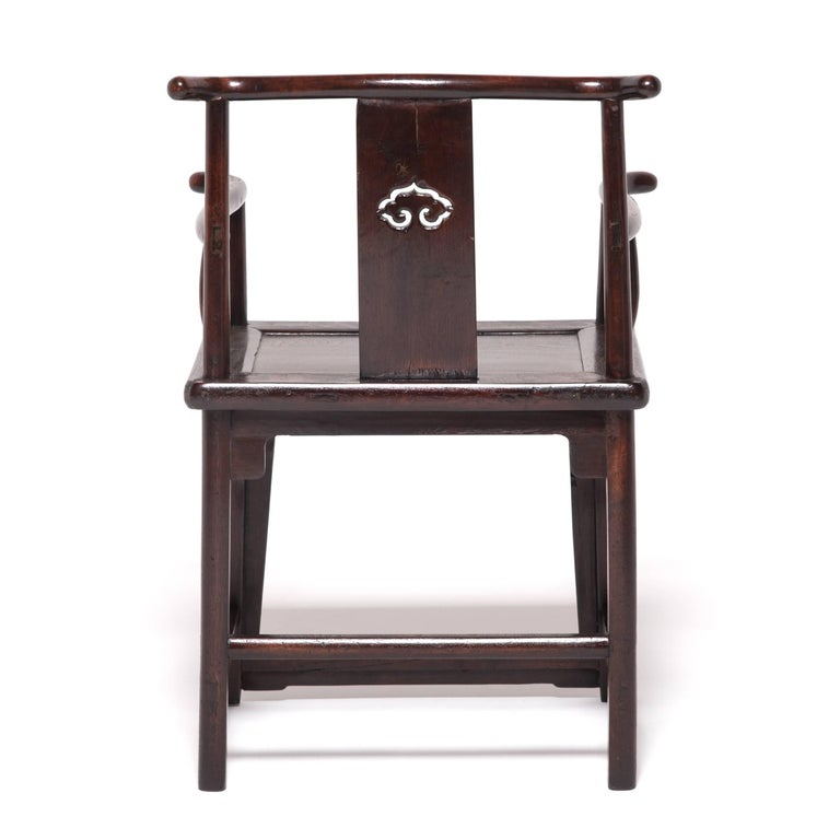Pair of 19th Century Chinese Ruyi Official's Chairs For Sale 5