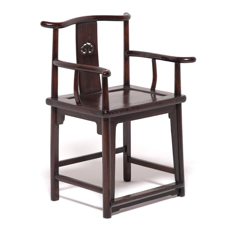 Pair of 19th Century Chinese Ruyi Official's Chairs For Sale 6