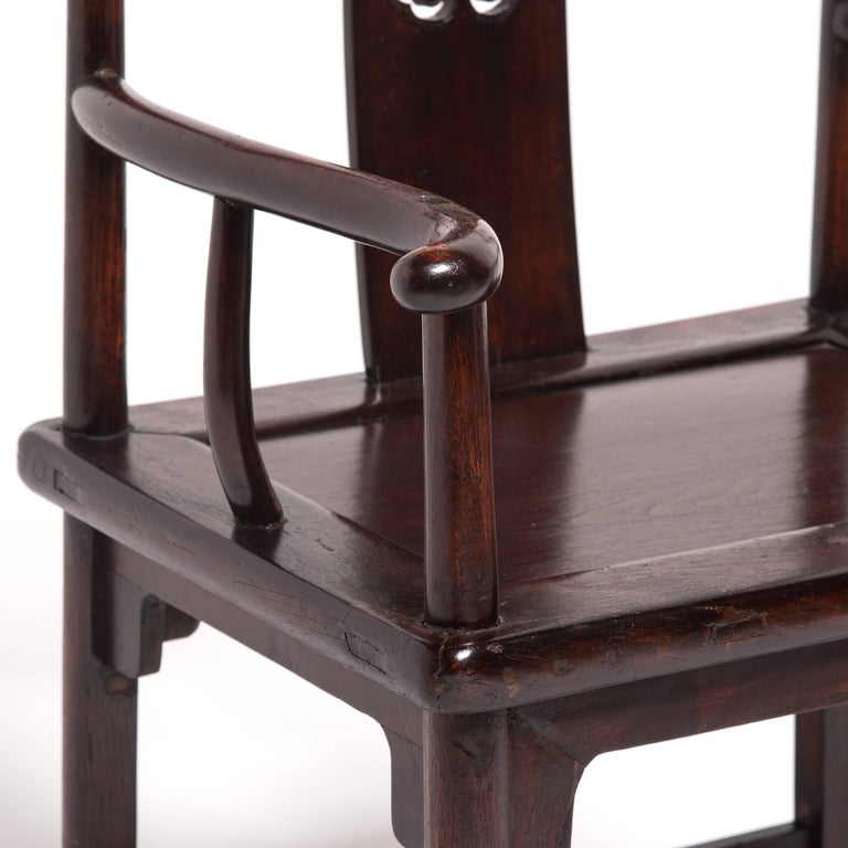 Pair of 19th Century Chinese Ruyi Official's Chairs For Sale 8