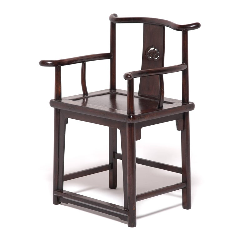 Qing Pair of 19th Century Chinese Ruyi Official's Chairs For Sale