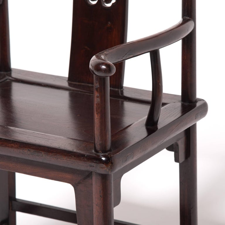 Pair of 19th Century Chinese Ruyi Official's Chairs For Sale 2