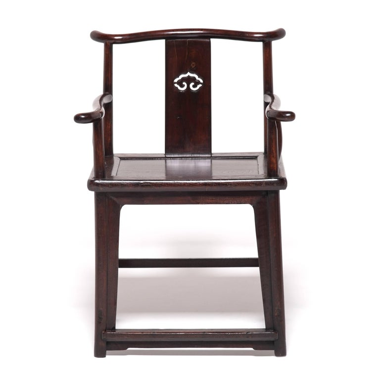 Pair of 19th Century Chinese Ruyi Official's Chairs For Sale 3