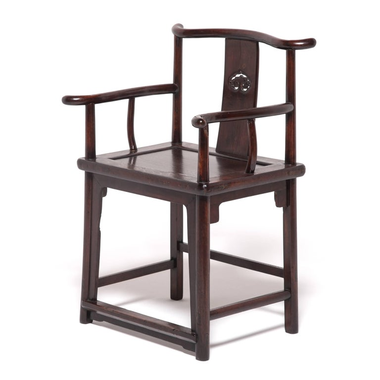 Pair of 19th Century Chinese Ruyi Official's Chairs For Sale 4