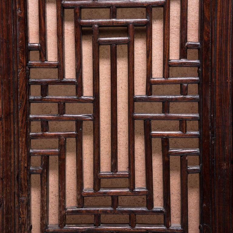Pair of 19th Century Chinese Turned Square Courtyard Panels In Good Condition For Sale In Chicago, IL