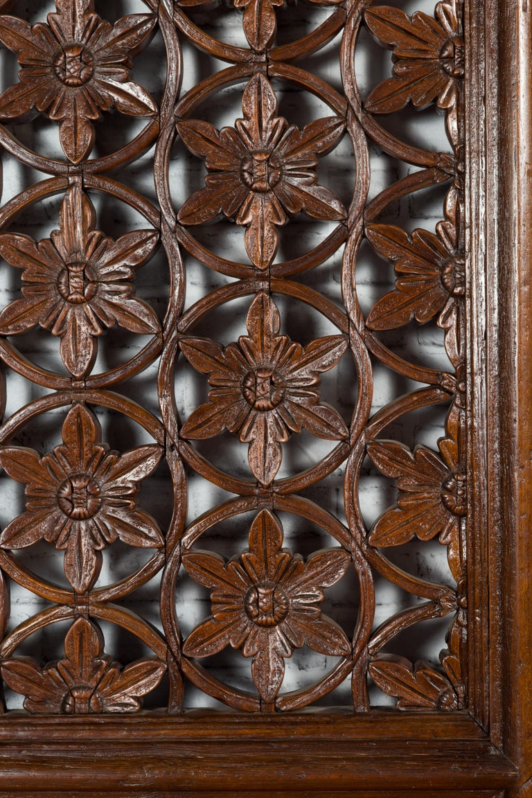 Pair of 19th Century Chinese Wooden Panels with Floral Motifs and Carved Objects For Sale 6