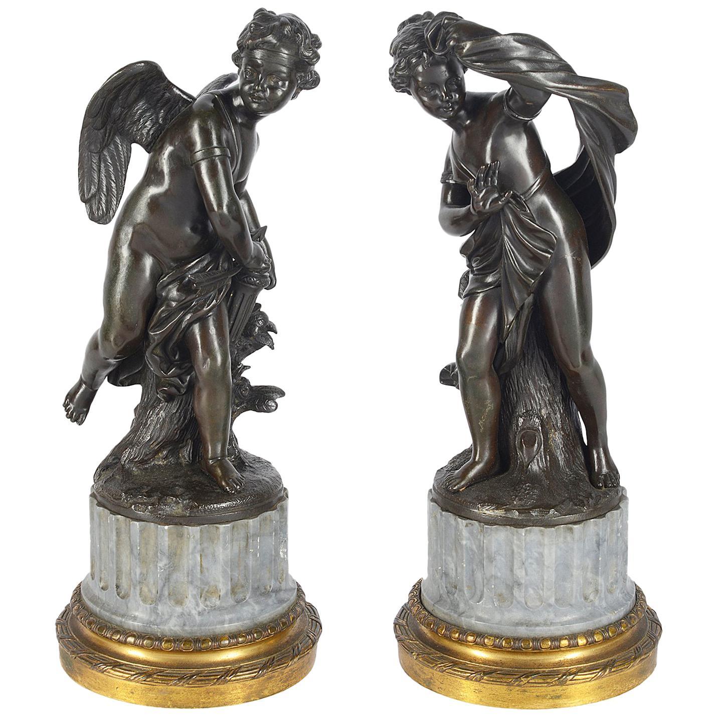 Pair of 19th Century Classical Bronze Statues
