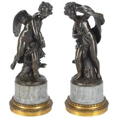 Pair of 19th Century Classical Bronze Statues