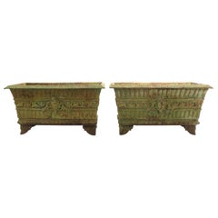 Pair of 19th Century Classical Cast Iron Planters