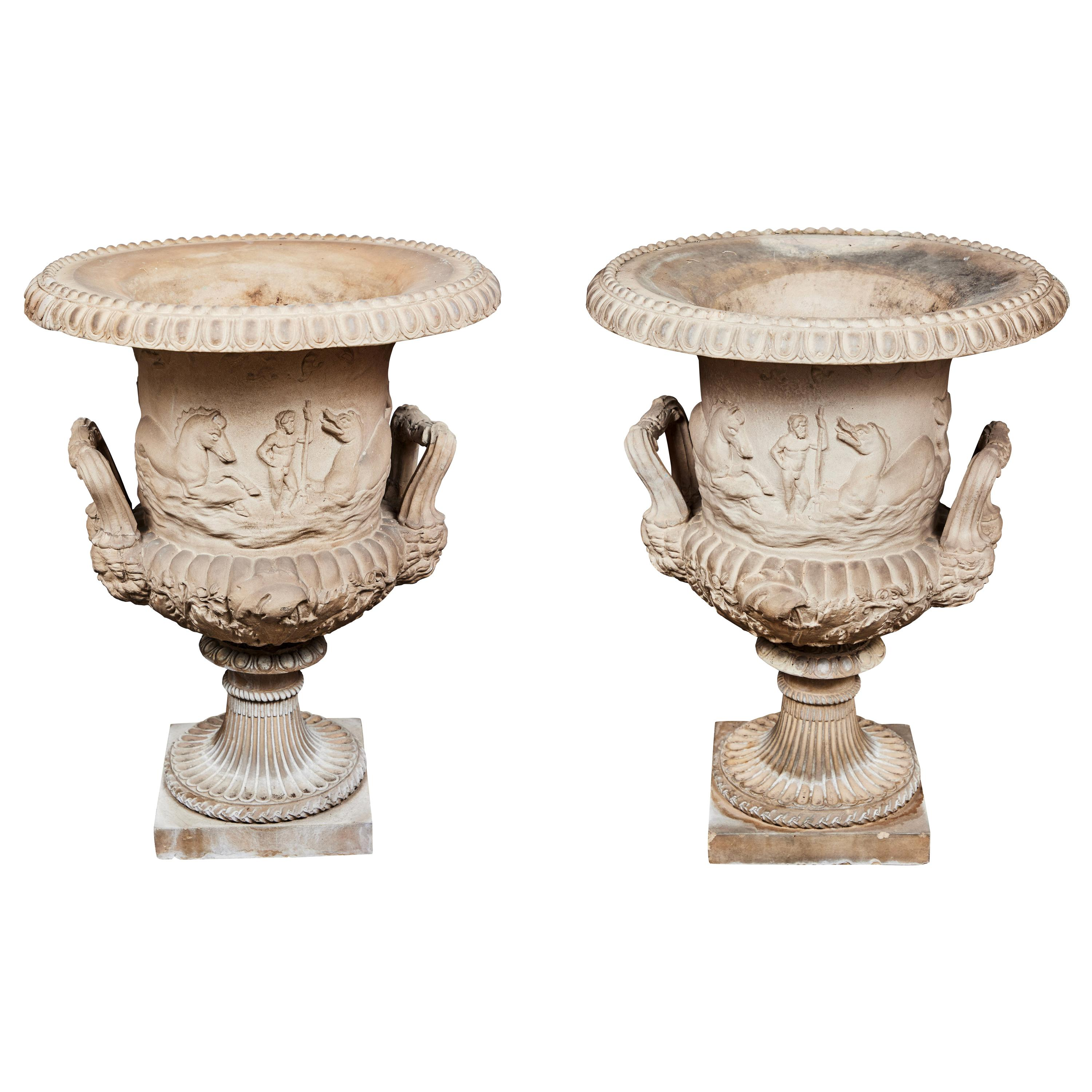Pair of 19th Century, Classical Style Urns