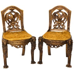 Pair of 19th Century Continental Style Side Chairs